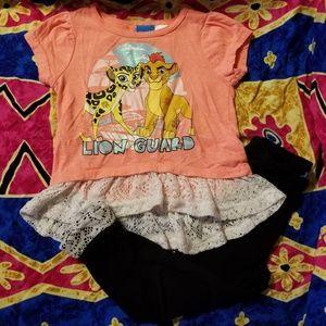 Disney Girls Lion Guard Lace Set 3T Toddler